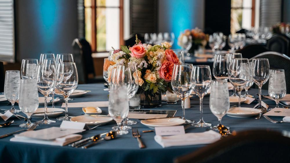 A table setting for an event at the Ritz-Carlton Bacara, Santa Barbara.