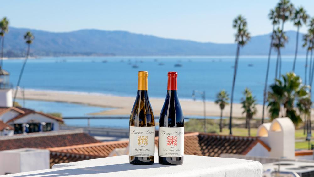 Brewer-Clifton's 2017 Sta. Rita Hills Chardonnay and Pinot Noir.