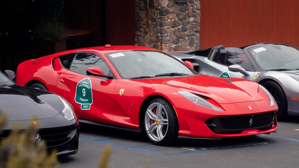 A 2019 Ferrari 812 Superfast.