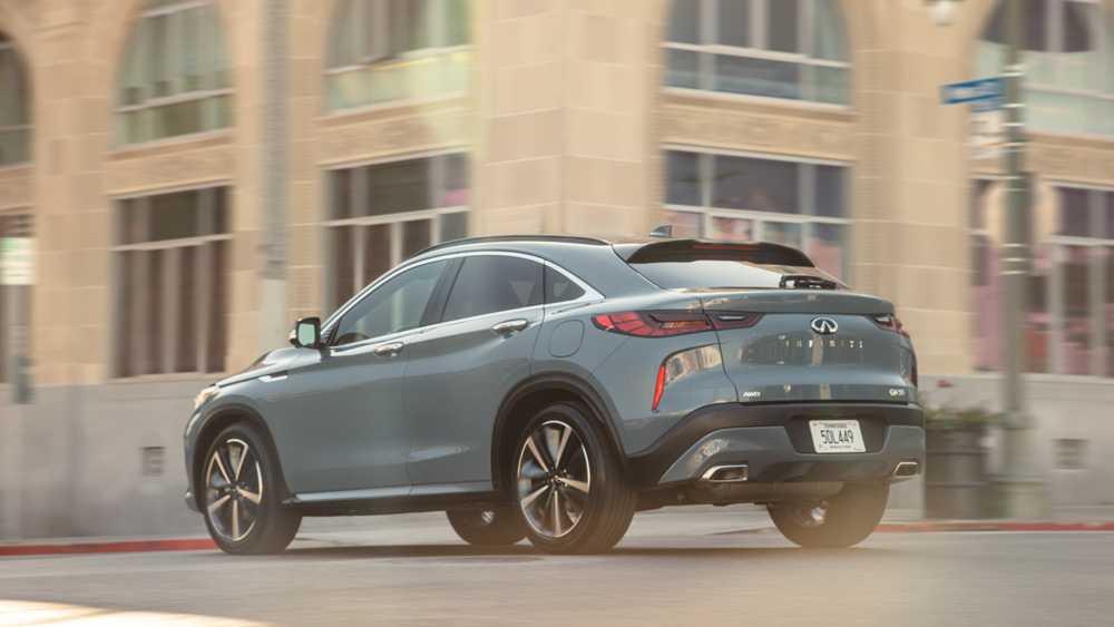 The 2022 Infiniti QX55 crossover coupe.