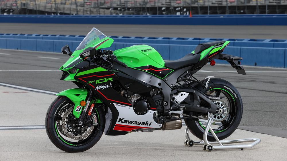 The 2021 Kawasaki ZX-10R superbike.