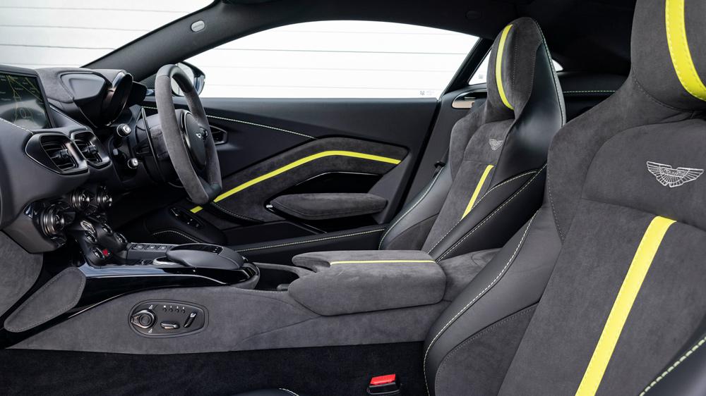 The interior of the Aston Martin Vantage F1 Edition.