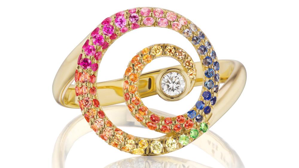 ARK Fine Jewelry Rainbow Tie-Dye Destiny Ring