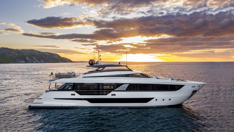 The Ferretti Yachts 1000 was launched at the Venice boat show as the flagship of the Italian brand