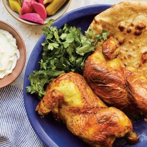 turmeric roast chicken with toum