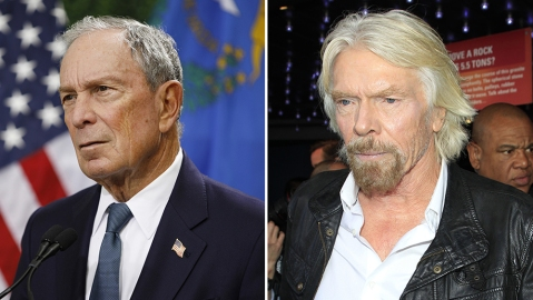 Michael Bloomberg and Richard Branson