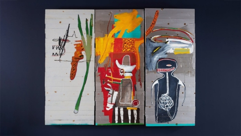 Basquiat 'Untitled' Painting