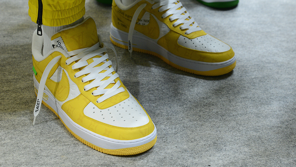 Louis Vuitton and Nike Air Force 1
