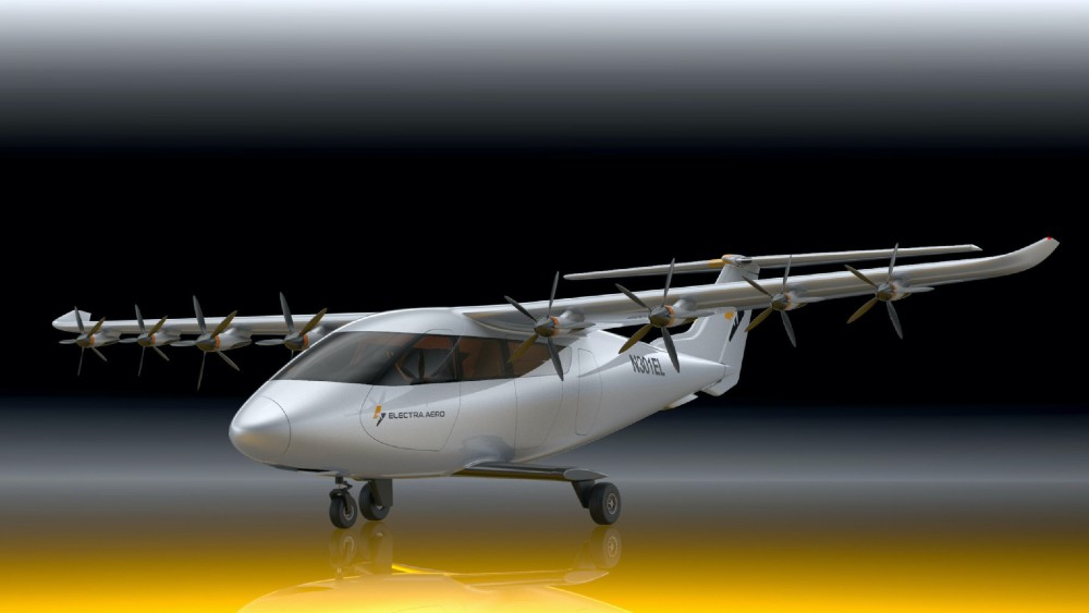 This new Electra.aero aircraft is designed for short takeoff and landing in lengths as short as 100 yards