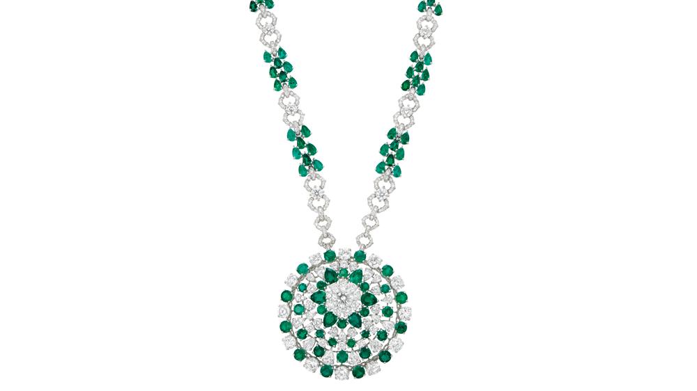 Graff Diamond and Emerald Pendant