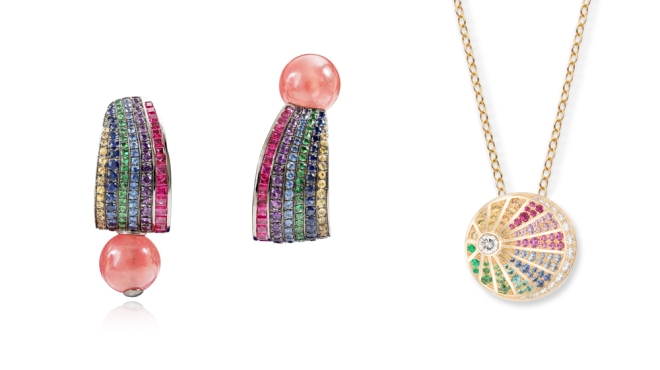 Lydia Courteille Earrings; Nouvel Heritage Necklace