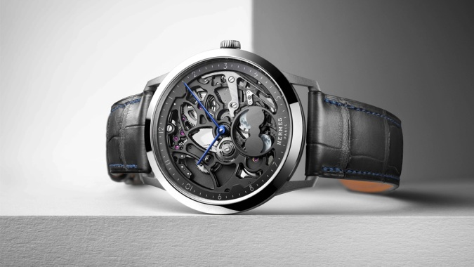Hermes Just Debuted Its First In-House Skeleton Dial, the Slim d'Hermès Squelette Lune