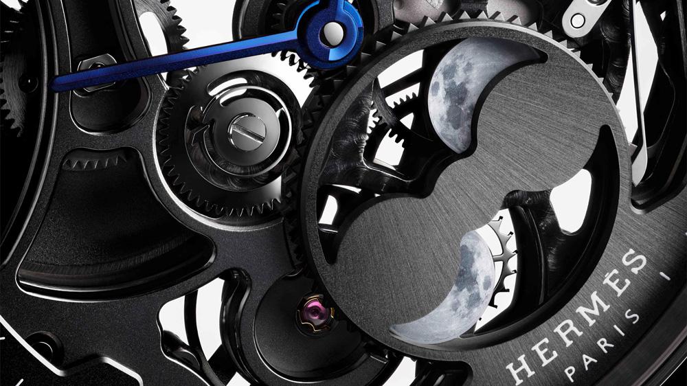 Hermès Slim d'Hermès Squelette Lune Dial