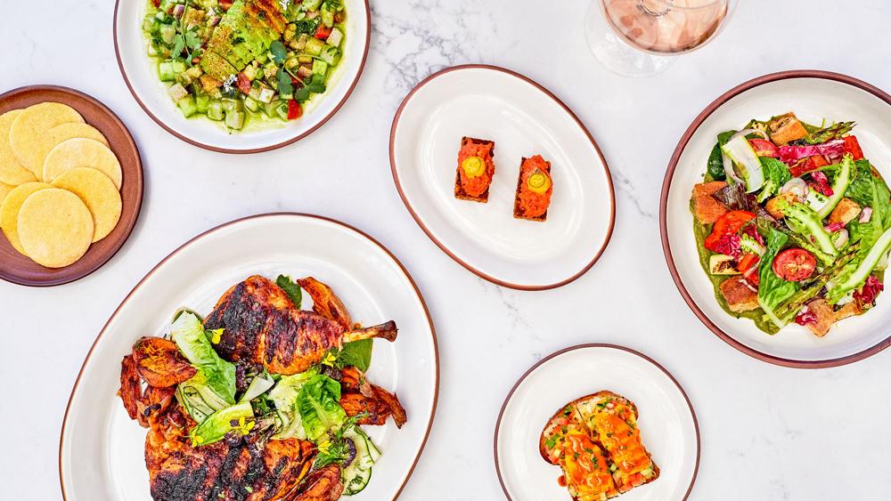 food table spanish restaurant tapas