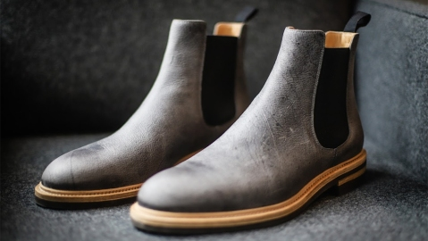 Tangier's kudu-leather Chelsea boots.