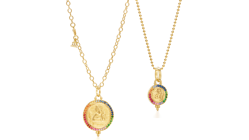 Temple St. Clair Limited Edition Rainbow Sapphire Angel Pendants