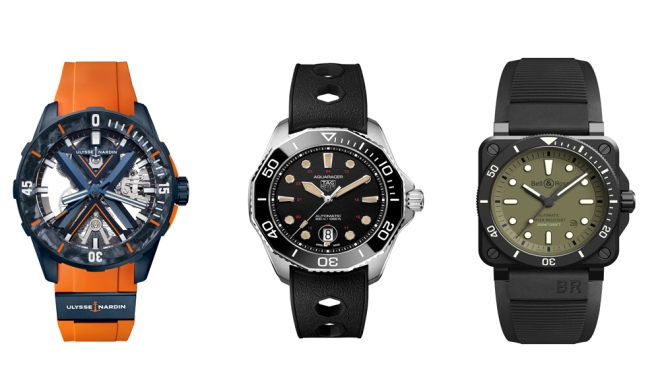 Ulysse Nardin, Tag Heuer, Bell & bRoss Dive Watches