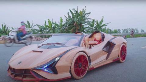 Wood Lamborghini Sian