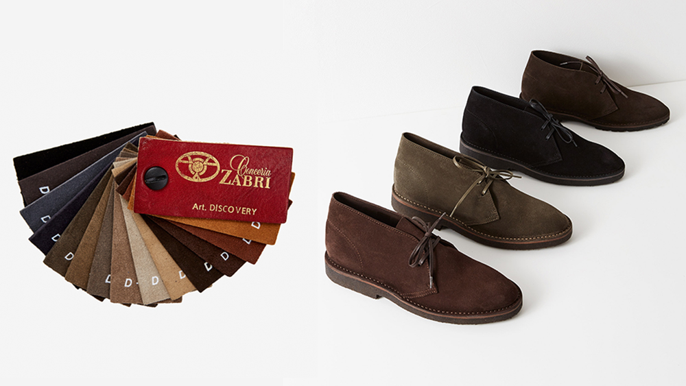 A sampling of the numerous possible desert boot styles available via Anglo-Italian's made-to-order program.