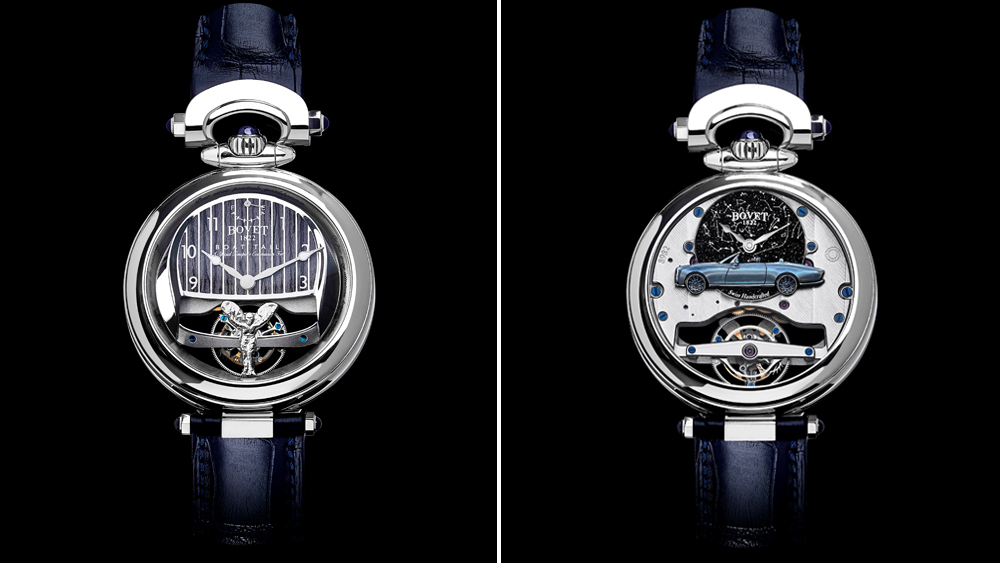 The gentleman's version of the bespoke Bovet 1822 watch that game with the Rolls-Royce Boat Tail