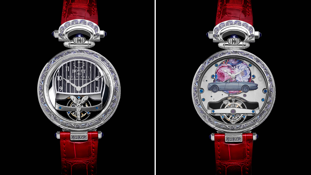 The lady's version of the bespoke Bovet 1822 watch that game with the Rolls-Royce Boat Tail