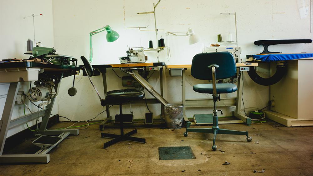 The interior of Jake's studio.