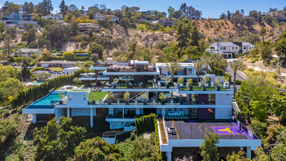 Inside a $44 Million LA Mansion With a Kobe Bryant-Themed Basketball Court and an Underground Car Gallery