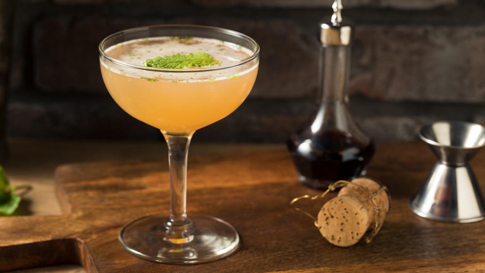 Boozy Refreshing Old Cuban Cocktail