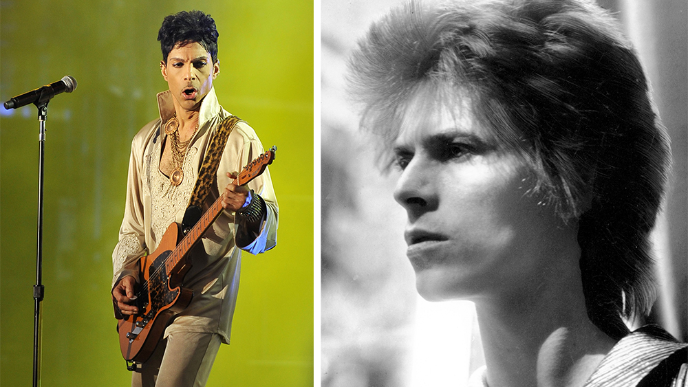 Prince and David Bowie