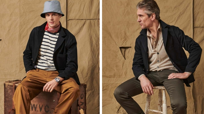 Two models with two different takes on the Franglais blazer.