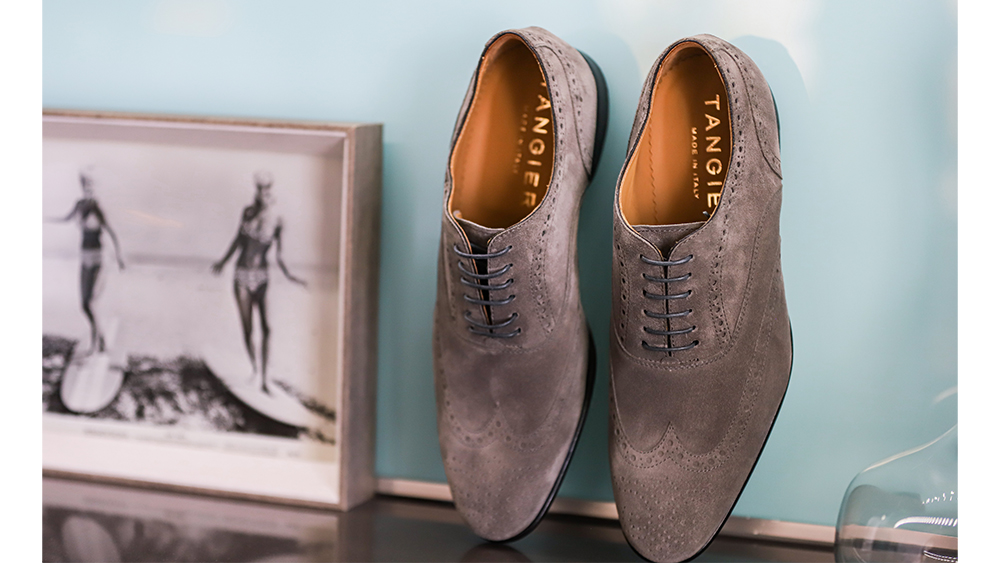 These suede wingtips are a taste of what's to come for fall.