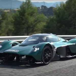 The Aston Martin Valkyrie undergoing road testing in Spain