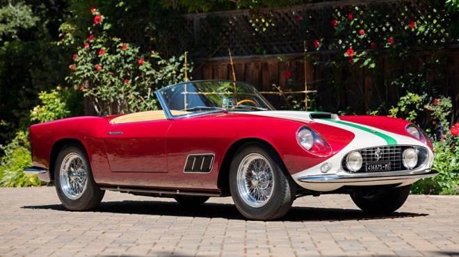 A 1959 Ferrari 250 GT LWB California Spider Competizione.