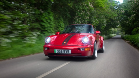 The all-electric Porsche 964 restomod from Everrati Automotive Limited.
