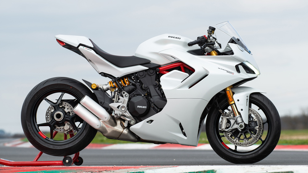 The 2021 Ducati SuperSport 950 S sportbike.
