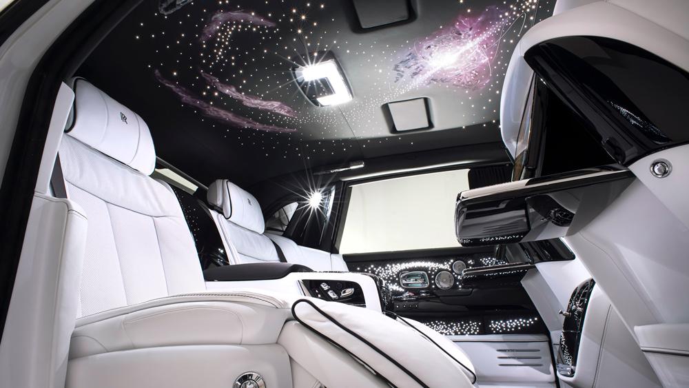 Inside the Rolls-Royce Phantom Tempus.