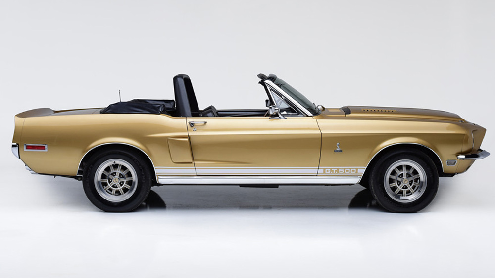 A 1968 Ford Shelby GT500 convertible.