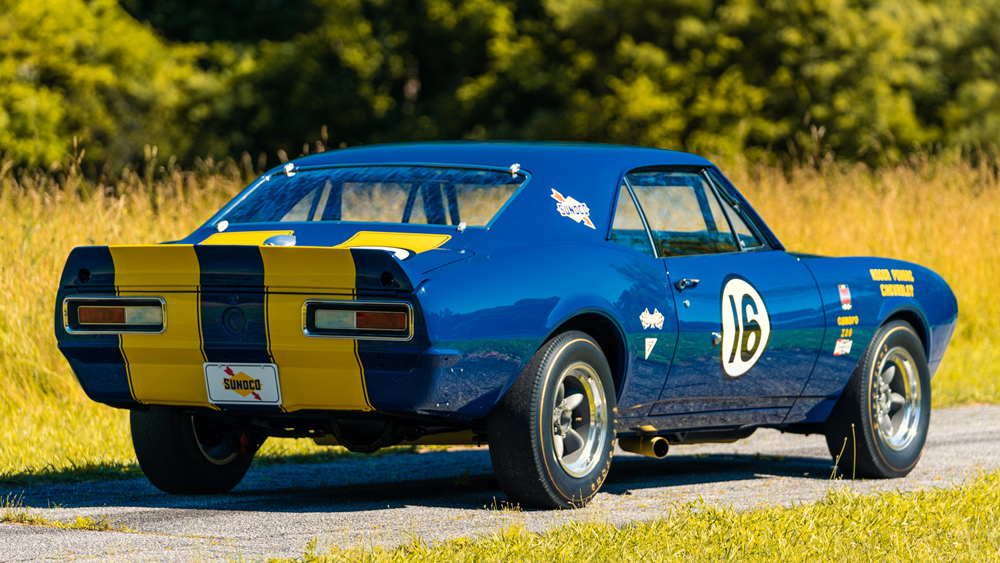 A 1967 Chevrolet Camaro Z/28 Trans Am.