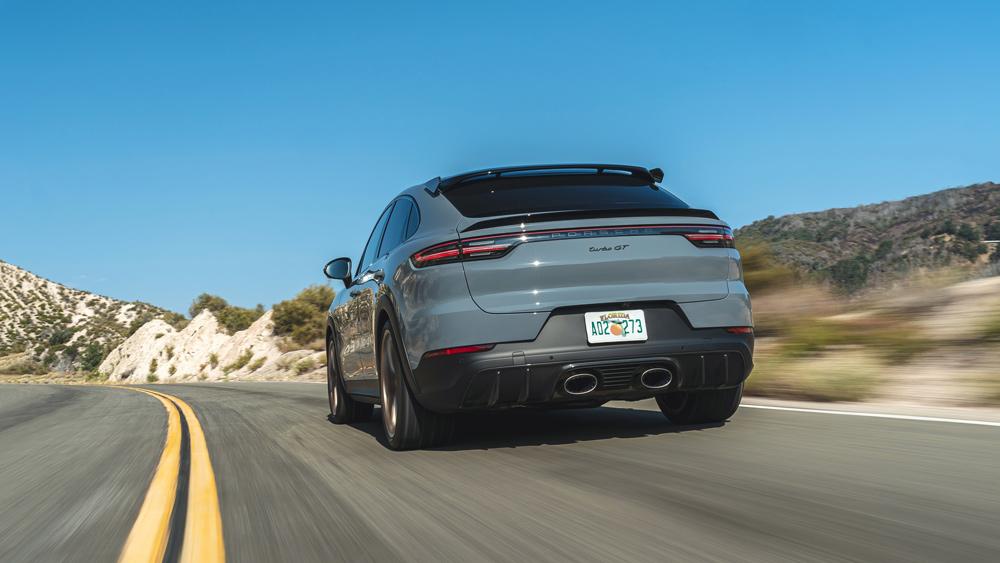Driving the 2022 Porsche Cayenne Turbo GT.