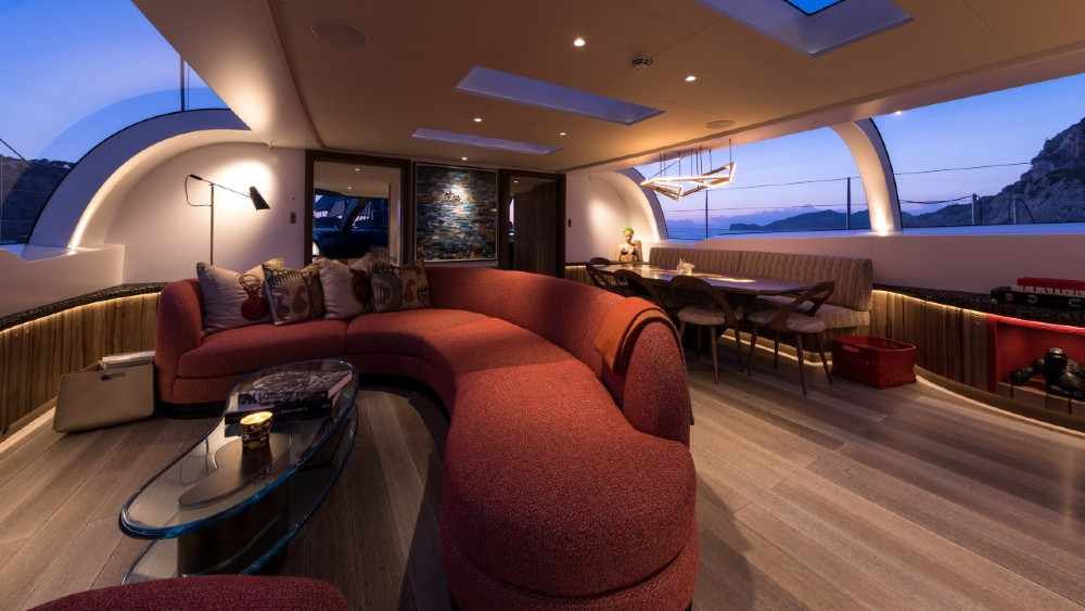 Ngoni is a 190-foot sailing superyacht with a stunning interior and beautiful profile
