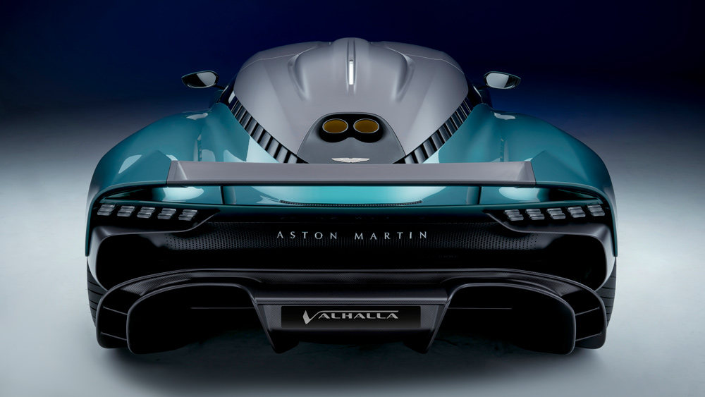 The hybrid Aston Martin Valhalla supercar.