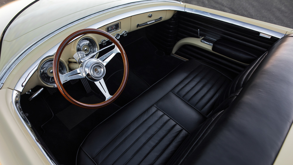 The interior of the 1954 Dodge Firearrow II concept car.