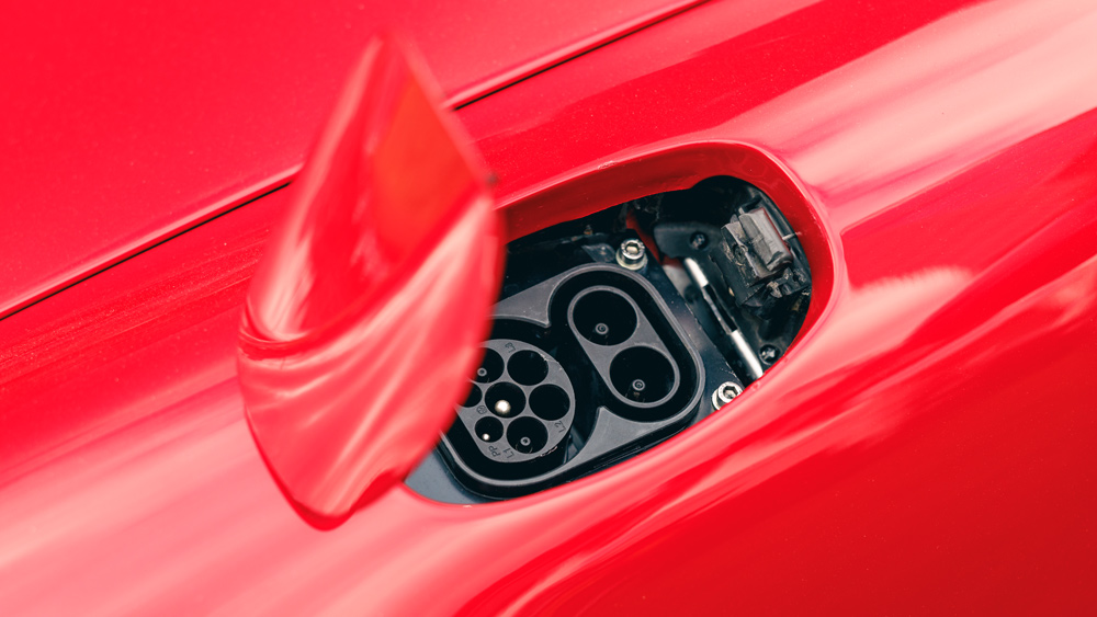 The plug-in port for the all-electric Porsche 964 restomod from Everrati.