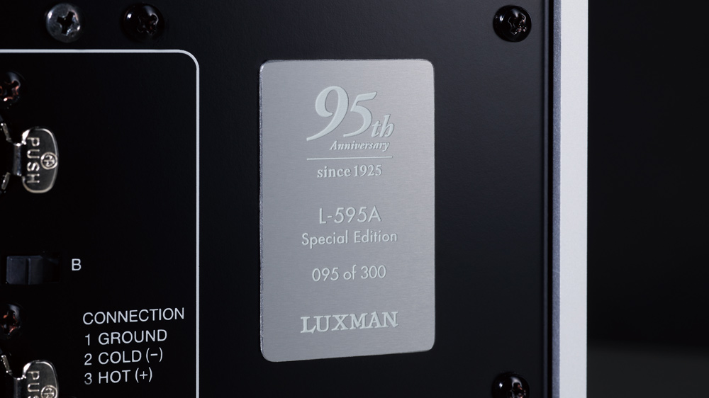 The back of Luxman's L-595A Special Edition Integrated Amplifier.