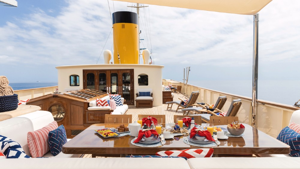 Nero is a modern yacht with a classic look that just had a major refit