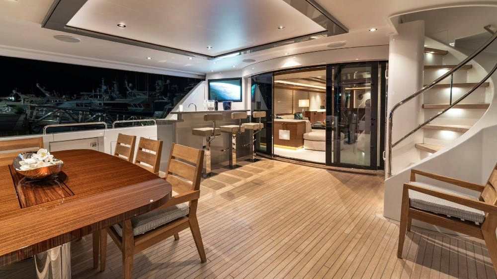 Westport's latest 112-foot superyacht has a dramatically different interior.