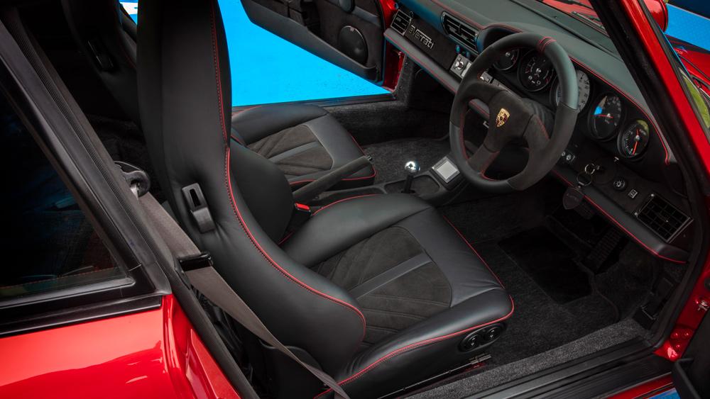 The interior of the all-electric Porsche 964 restomod from Everrati.