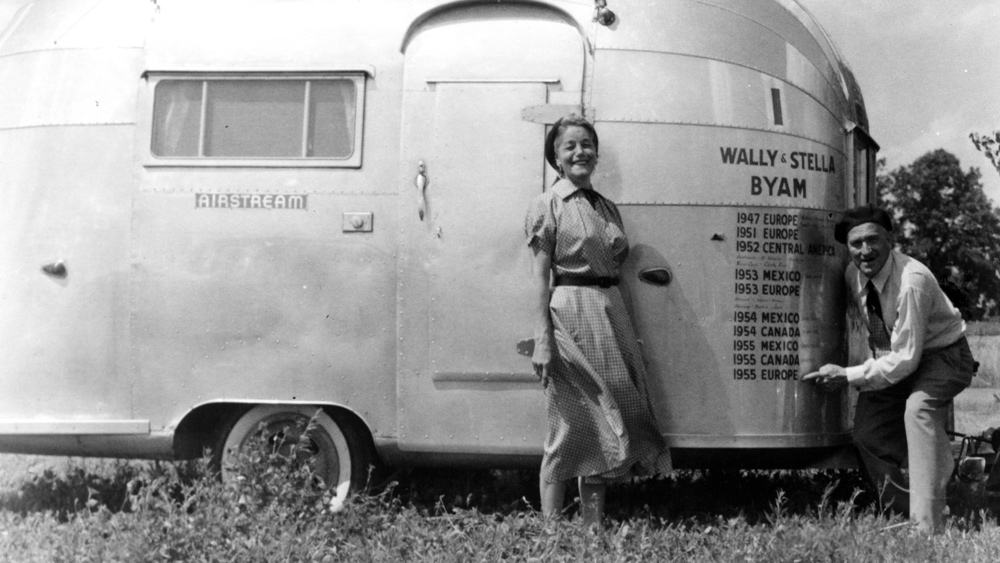 Wally Byam, founder of Airstream, and his wife Stella.