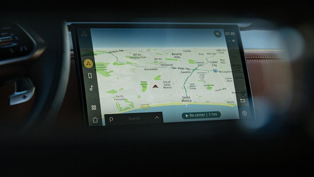 """Jaguar's new """"Pivi Pro"""" navigation system aboard the automaker's 2021 F-Pace SUV."""