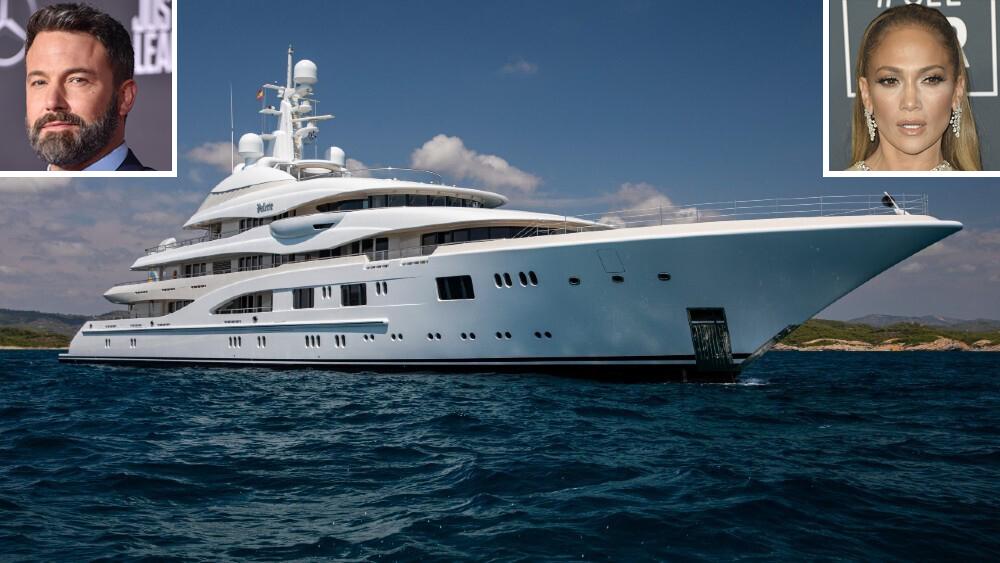 "Jennifer Lopez, Ben Affleck and the 280-foot superyacht ""Valerie"""